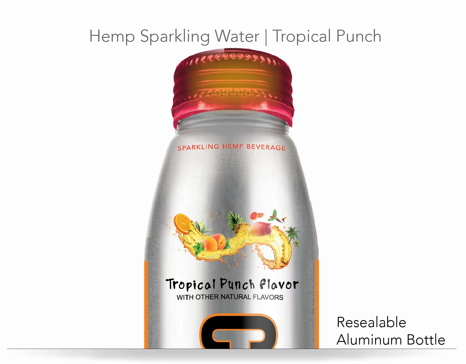 Sparkling Hemp Water | Tropical Punch